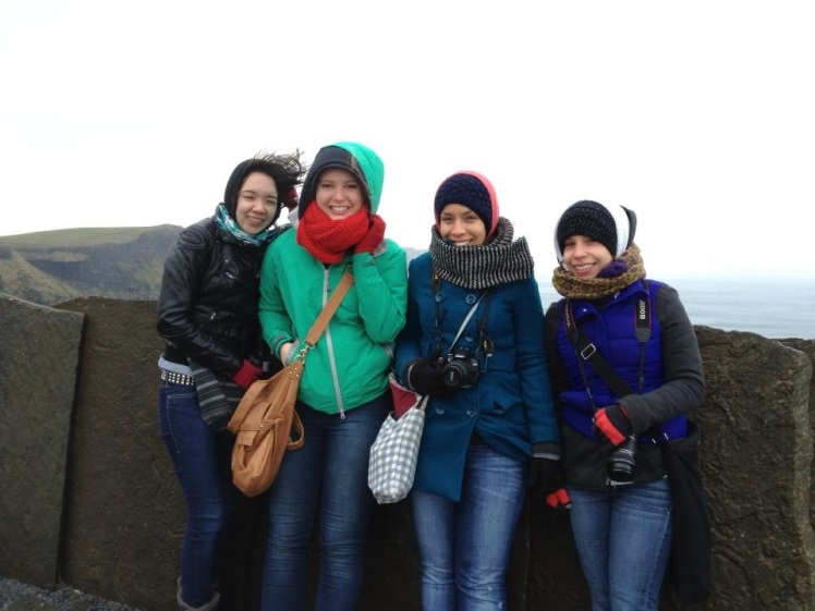 My American friends at the Cliffs of Moher - Ireland