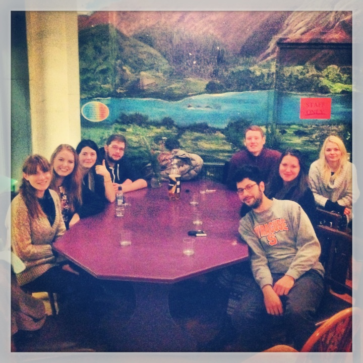 The coolest roomates you could ask for in a hostel, French, Slovenian, American and German friends - Edinburgh, Scotland