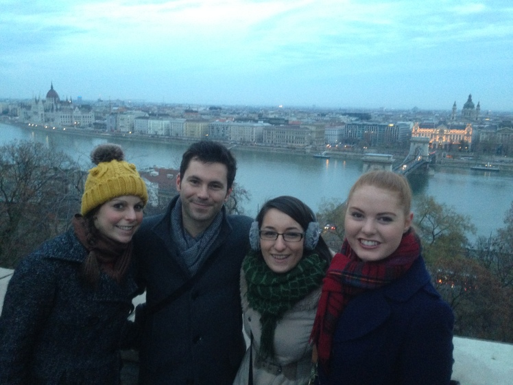 My Romanian/German friends overlooking the Danube River - Budapest, Hungary