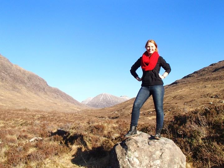 Conquering a hike through a valley
