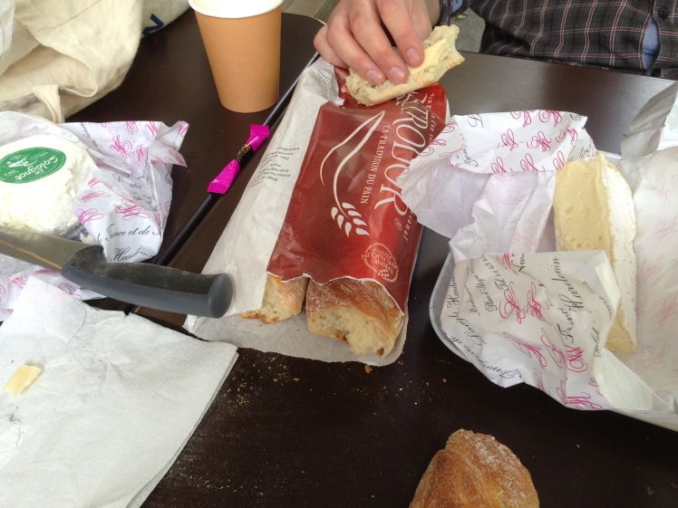 The three best C's in life: Coffee, Croissants and Cheese