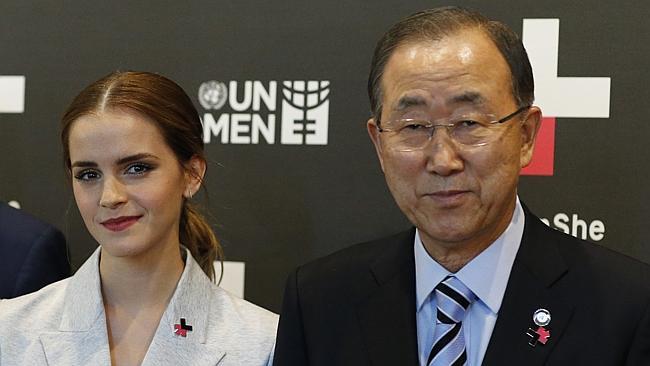 Miss Emma Watson with General Ban-Ki moon