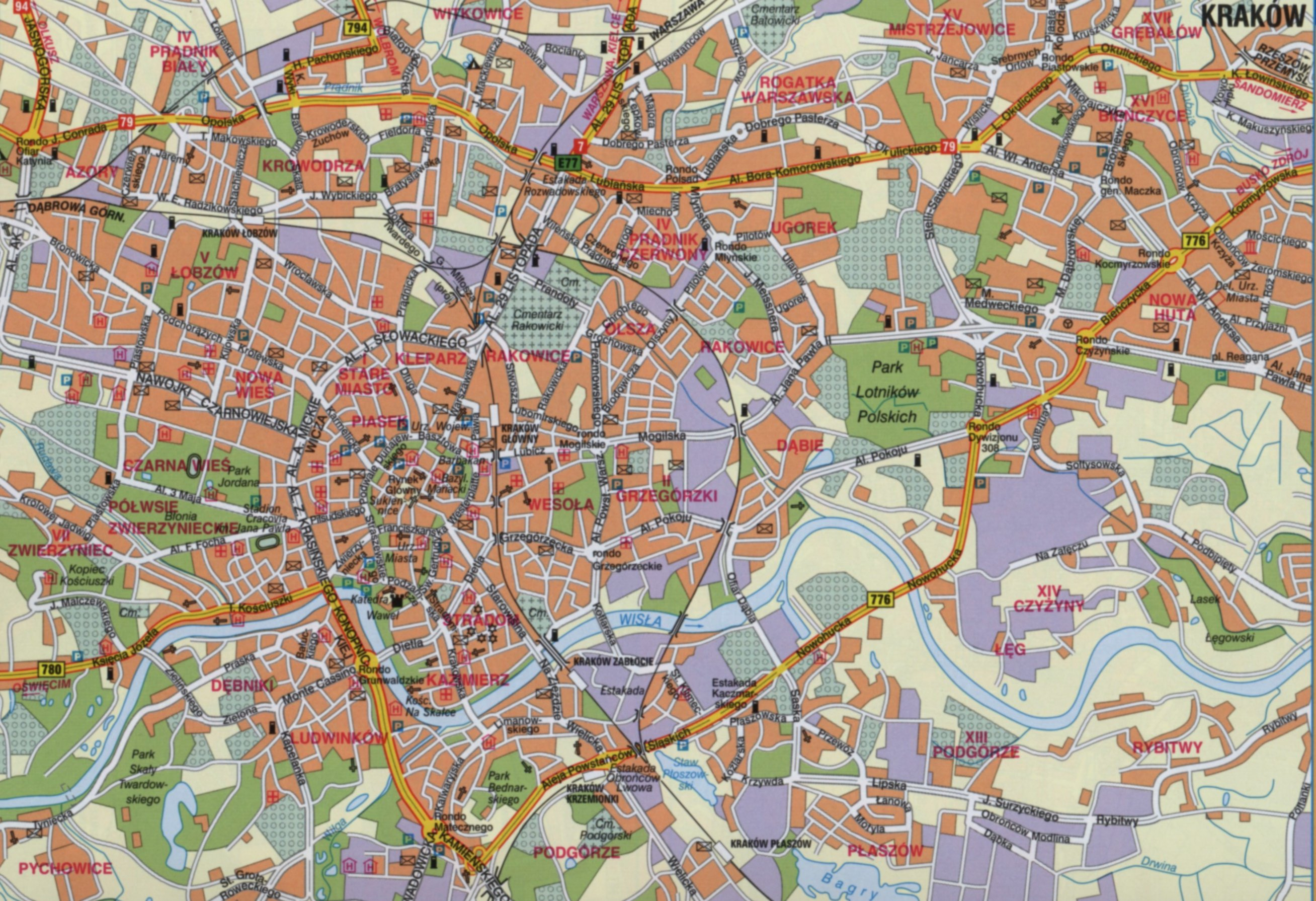 Navigating foreign cities can be confusing, but when you nail it... it's an awesome feeling! http://www.chamberofcommerce.pl/map-of-krakow/map-of-krakow.jpg