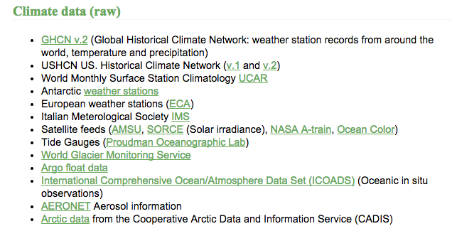 Where Real Climate get their information/data from http://www.realclimate.org/index.php/data-sources/