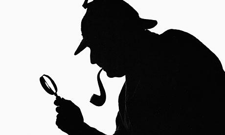 The classic Sherlock Holmes http://1.bp.blogspot.com/-dbKZPgKjQFU/TuphO4xBcOI/AAAAAAAACC8/DrYk5W89Gc4/s1600/zz+Sherlock-Holmes-profile+silhoutte+007.jpg