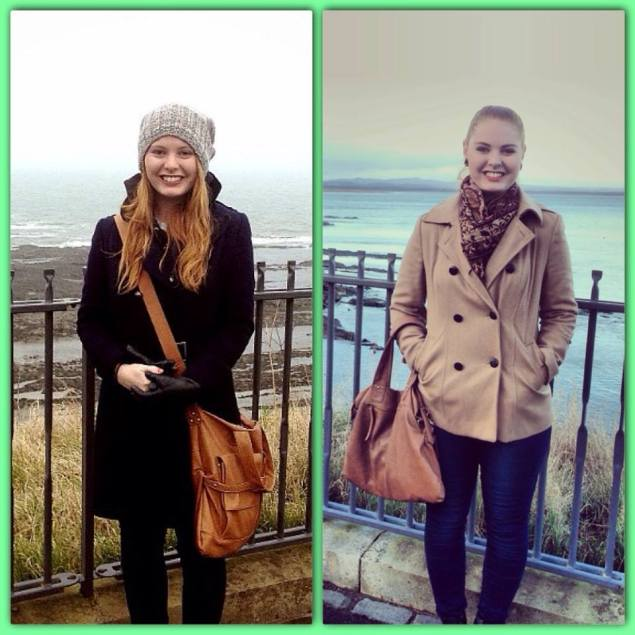 February 2013 & December 2013 (St. Andrews, Scotland) More than just my clothes changed