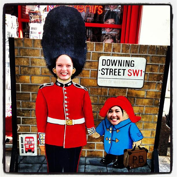 Being silly and having fun with my housemate in London. And it also leaves you some hilarious photos!