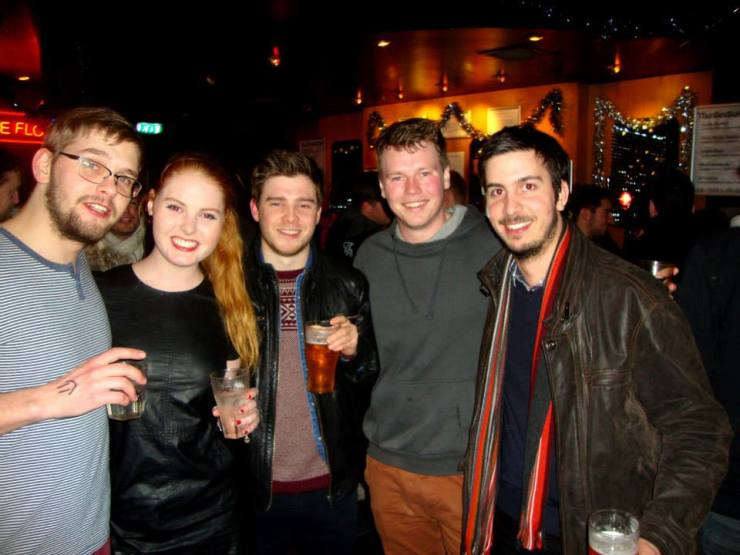 A group of people I met in a bar in Edinburgh, Scotland