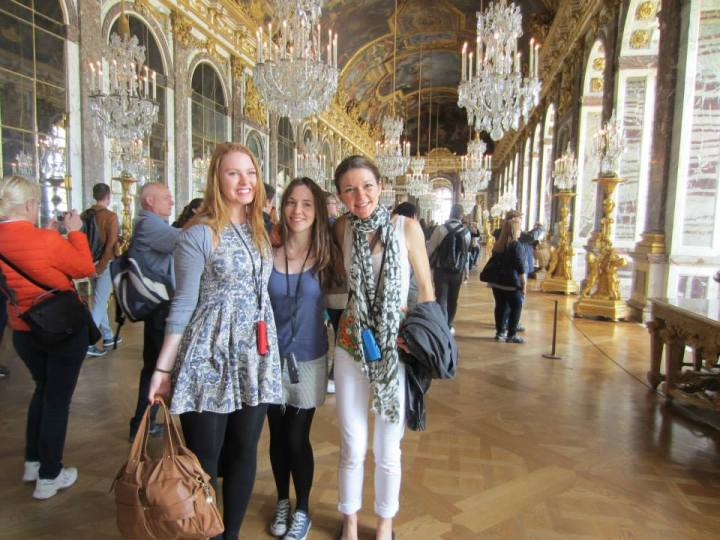 2 English girls I met in Versailles, France
