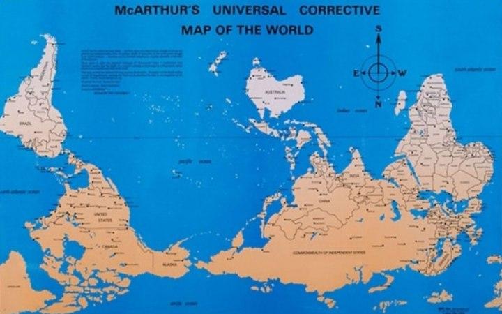 McArthur's Universal Corrective Map http://america.aljazeera.com/opinions/2014/2/maps-cartographycolonialismnortheurocentricglobe.html