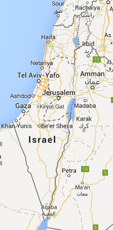 Searching 'Israel' into Google Maps