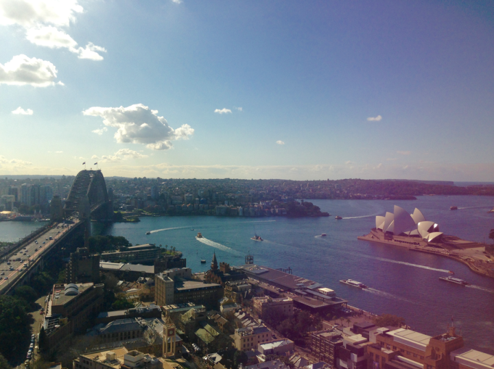 View of Sydney Harbour from the 30th floor of the Shangri-La
