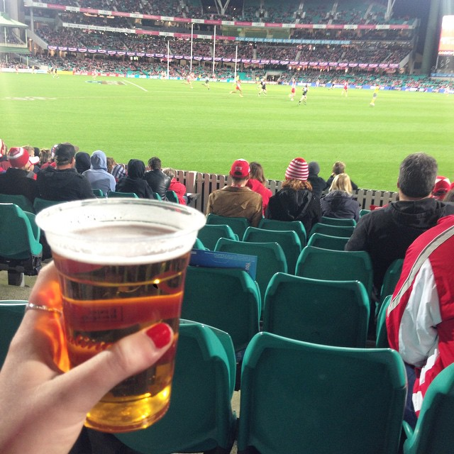 Watching the Swans beat Port Adelaide at the SCG