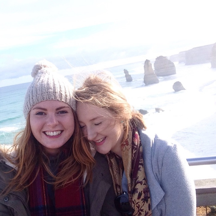Tishia and I exploring the Great Ocean Road