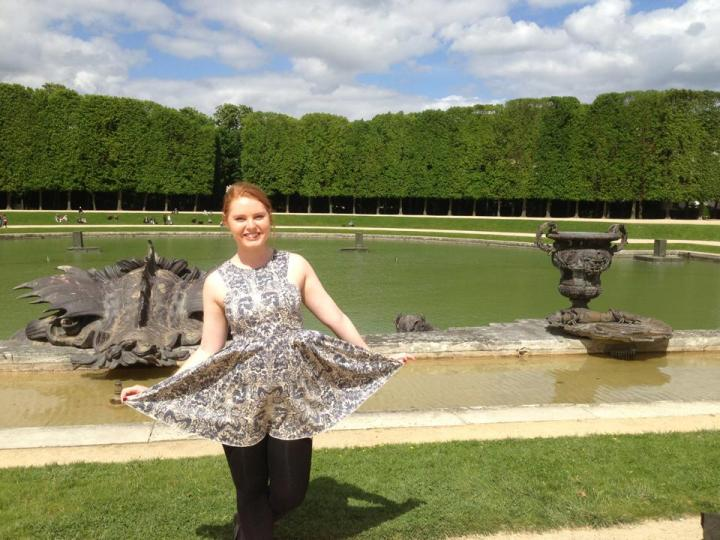 Being fancy at the Palace of Versailles.