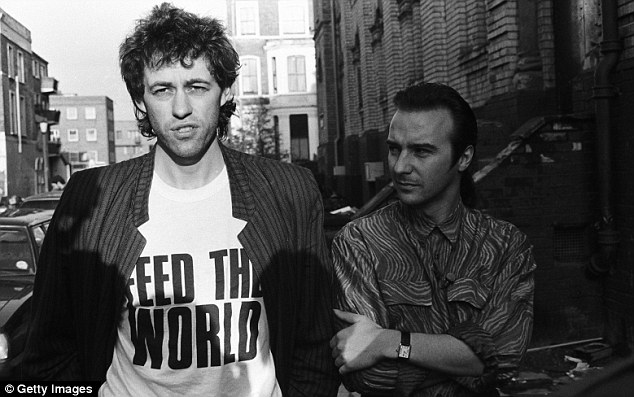 Bob Geldof and Bono campaigning against poverty. Source.