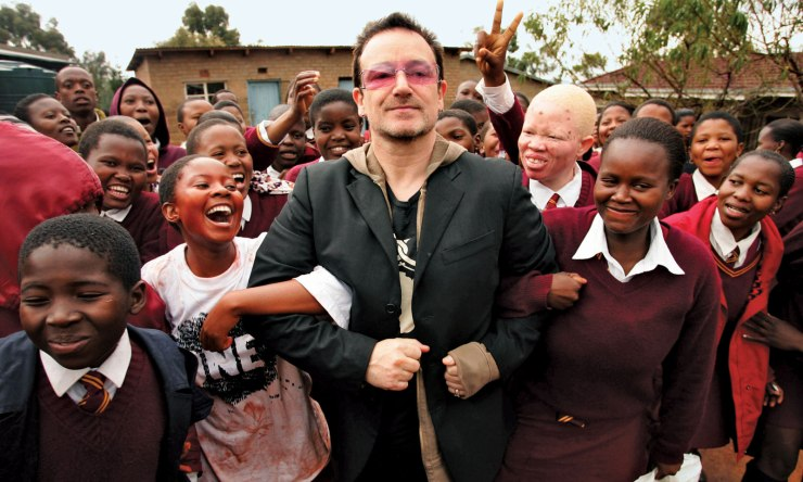 Bono brings his good intentions to Africa. Source