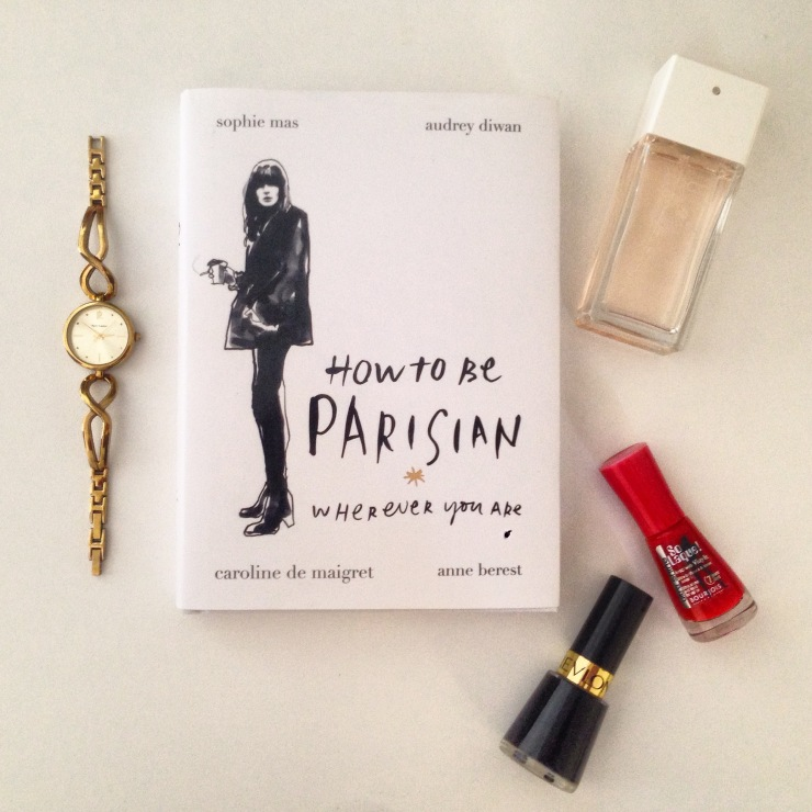 My favourite French things; Coco Chanel Mademoiselle, red and black nailpolish and my gold plated Pierre Laniere watch I bought in Paris for my 19th birthday.
