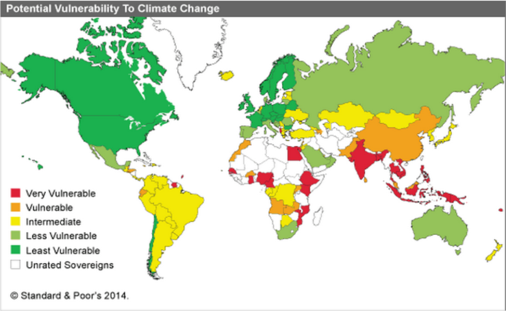 Map displaying the countries most vulnerable to the effects of Climate Change. Extreme weather = extreme poverty. Let's be the change we want to see!